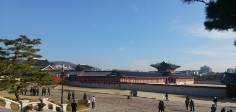 Wudky's Seoul Trip - Gyeongbokgung Palace viewed from National Palace Museum