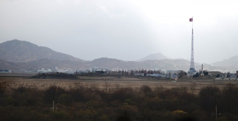 North Korea as seen from the demilitarized zone in South Korea, Nov 11, 2012. DOD photo by D. Myles Cullen