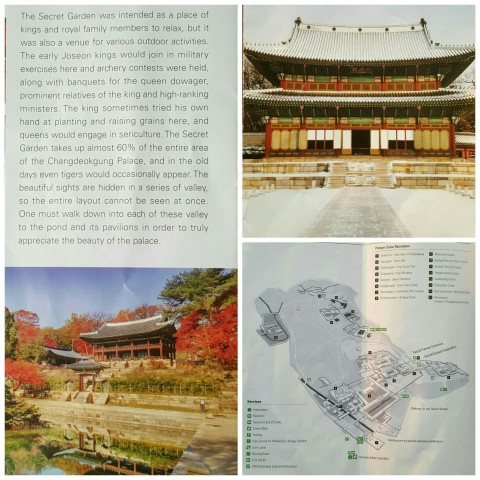 Pictures of the Changdeokgung Palace and Huwon Secret Garden form our info folder